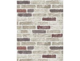 DW1036703-06 Red Creme Brick Wallpaper