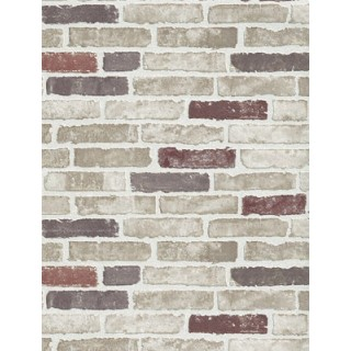 DW1036703-06 Red Creme Brick Wallpaper