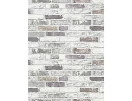 DW1036703-10 White Grey Brick Wallpaper