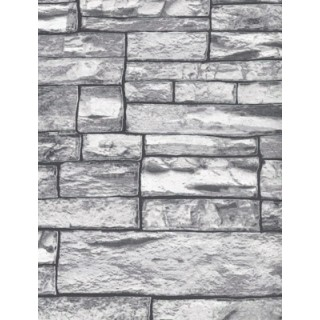 DW1036712-10 Grey Brick Wallpaper