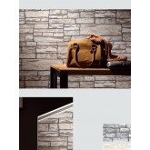 DW1036712-02 Light Beige Brick Wallpaper