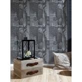 DW228252821 Black and White Wallpaper