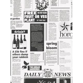 DW898560-12 Decora Natur 5 Wallpaper, Decor: Newspaper