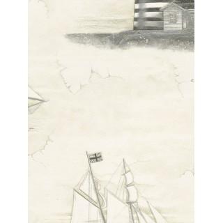 DW898608-35 Decora Natur 5 Wallpaper, Decor: Sailship