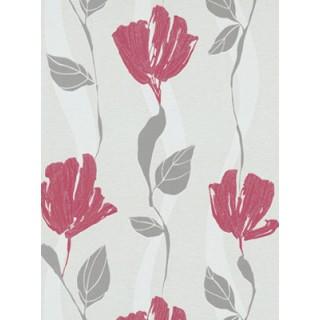 DW1076749-06 Brown Floral Wallpaper