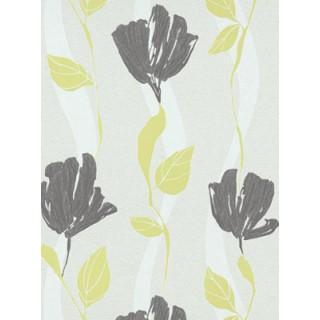 DW1076749-07 Green Floral Wallpaper