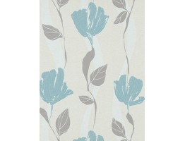 DW1076749-18 Grey Floral Wallpaper