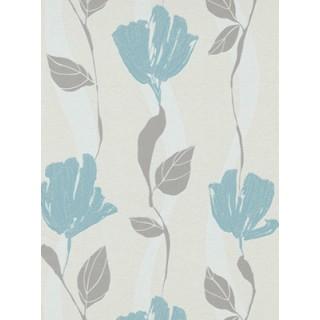 DW1076749-18 Grey Floral Wallpaper