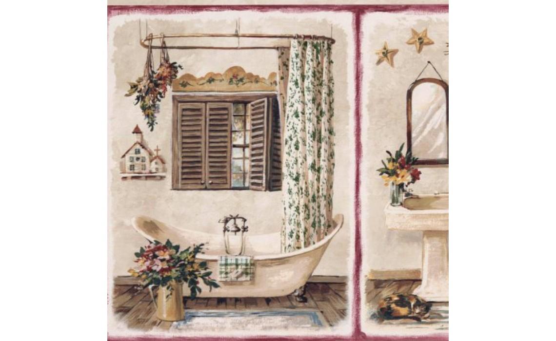 Choosing Wallpaper Borders for Bathrooms