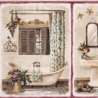Choosing Wallpaper Borders for Bathrooms