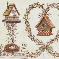 Bird Houses Wallpaper Borders
