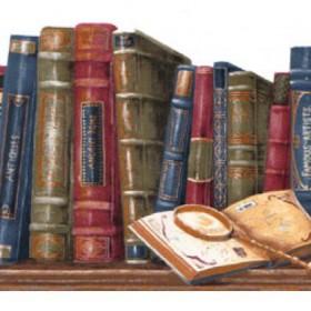 Bookshelf Wallpaper Borders