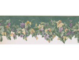 7 in x 15 ft Prepasted Wallpaper Borders - Leaves Wall Paper Border 138902