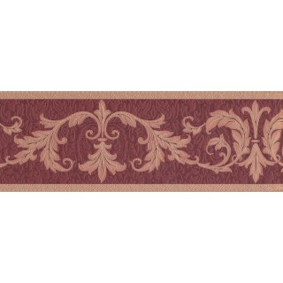 7 in x 15 ft Prepasted Wallpaper Borders - Damask Wall Paper Border 30150