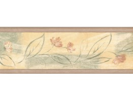 Prepasted Wallpaper Borders - Floral Wall Paper Border 30868160