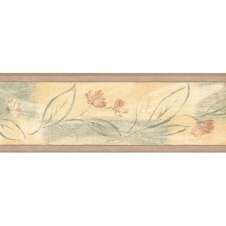 7 in x 15 ft Prepasted Wallpaper Borders - Floral Wall Paper Border 30868160