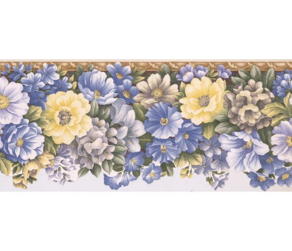 New  Arrivals Wall Borders: Floral Wallpaper Border 31012357B