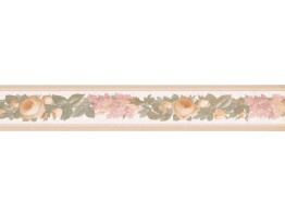 3.25 in x 15 ft Prepasted Wallpaper Borders - Floral Wall Paper Border 31616230