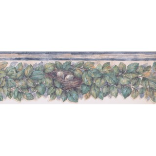 6 1/2 in x 15 ft Prepasted Wallpaper Borders - Leaves Wall Paper Border 375804737