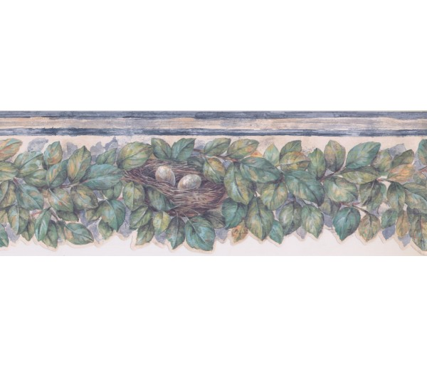 Prepasted Wallpaper Borders - Leaves Wall Paper Border 375804737
