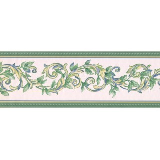 7 in x 15 ft Prepasted Wallpaper Borders - Leaves Wall Paper Border 40926290