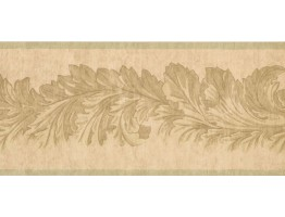 Prepasted Wallpaper Borders - Leaves Wall Paper Border 41706290