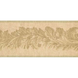 9 in x 15 ft Prepasted Wallpaper Borders - Leaves Wall Paper Border 41706290