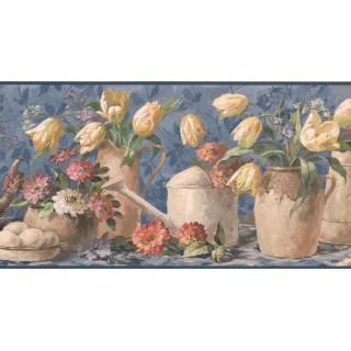 10 1/4 in x 15 ft Prepasted Wallpaper Borders - Garden Wall Paper Border 5503172