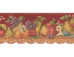 Prepasted Wallpaper Borders - Fruits Wall Paper Border 5503860