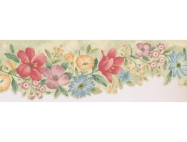 Prepasted Wallpaper Borders - Floral Wall Paper Border 5504311