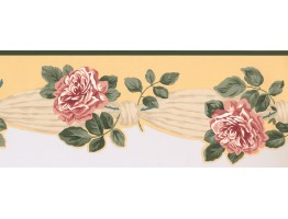 8 in x 15 ft Prepasted Wallpaper Borders - Floral Wall Paper Border 5504392