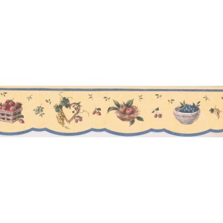 4 1/2 in x 15 ft Prepasted Wallpaper Borders - Kitchen Wall Paper Border 5505671