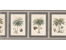 Prepasted Wallpaper Borders - Palm Tree Wall Paper Border 5506272