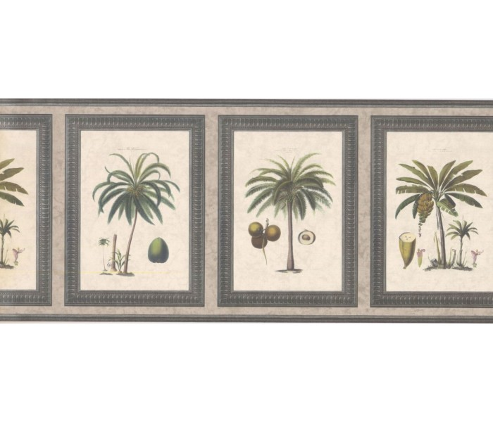 New  Arrivals Wall Borders: Palm Tree Wallpaper Border 5506272