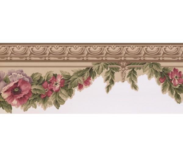 New  Arrivals Wall Borders: Floral Wallpaper Border 5507120