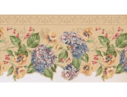 10.2 in x 15 ft Prepasted Wallpaper Borders - Floral Wall Paper Border 5507330