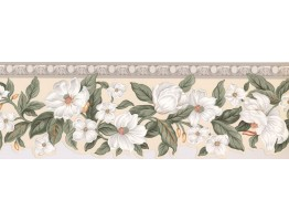 6 1/2 in x 15 ft Prepasted Wallpaper Borders - Floral Wall Paper Border 5507840