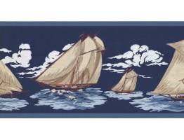 Prepasted Wallpaper Borders - Ships Wall Paper Border 5508851