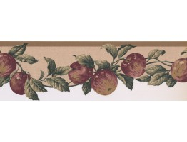 Prepasted Wallpaper Borders - Apple Fruits Wall Paper Border 577103