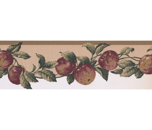 New Arrivals Apple Fruits Wallpaper Border 577103 Waverly