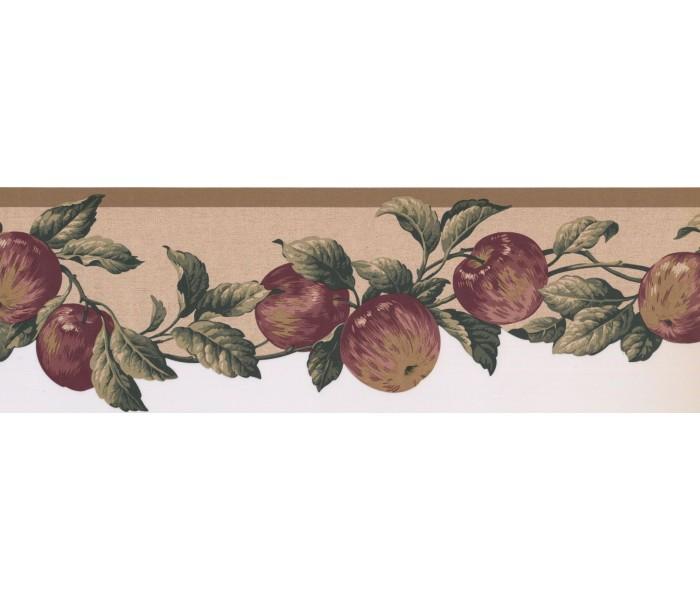 New  Arrivals Wall Borders: Apple Fruits Wallpaper Border 577103