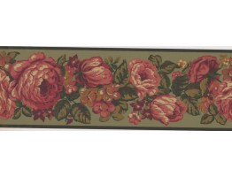 7 in x 15 ft Prepasted Wallpaper Borders - Floral Wall Paper Border 5801985