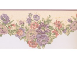 10 in x 15 ft Prepasted Wallpaper Borders - Floral Wall Paper Border 5806432