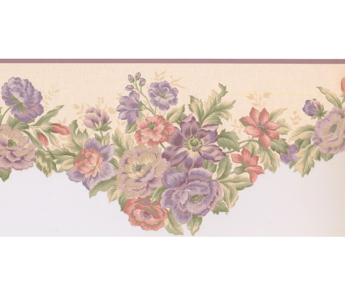 New  Arrivals Wall Borders: Floral Wallpaper Border 5806432