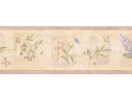 7 in x 15 ft Prepasted Wallpaper Borders - Floral Wall Paper Border 5811951