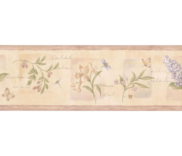 Prepasted Wallpaper Borders - Floral Wall Paper Border 5811951