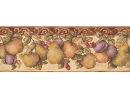 Prepasted Wallpaper Borders - Fruits Wall Paper Border 5813920
