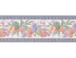 Prepasted Wallpaper Borders - Fruits Wall Paper Border 585885