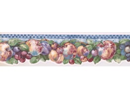 Prepasted Wallpaper Borders - Fruits Wall Paper Border 737272500