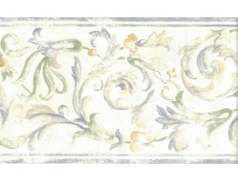 Prepasted Wallpaper Borders - Floral Wall Paper Border 82B66121